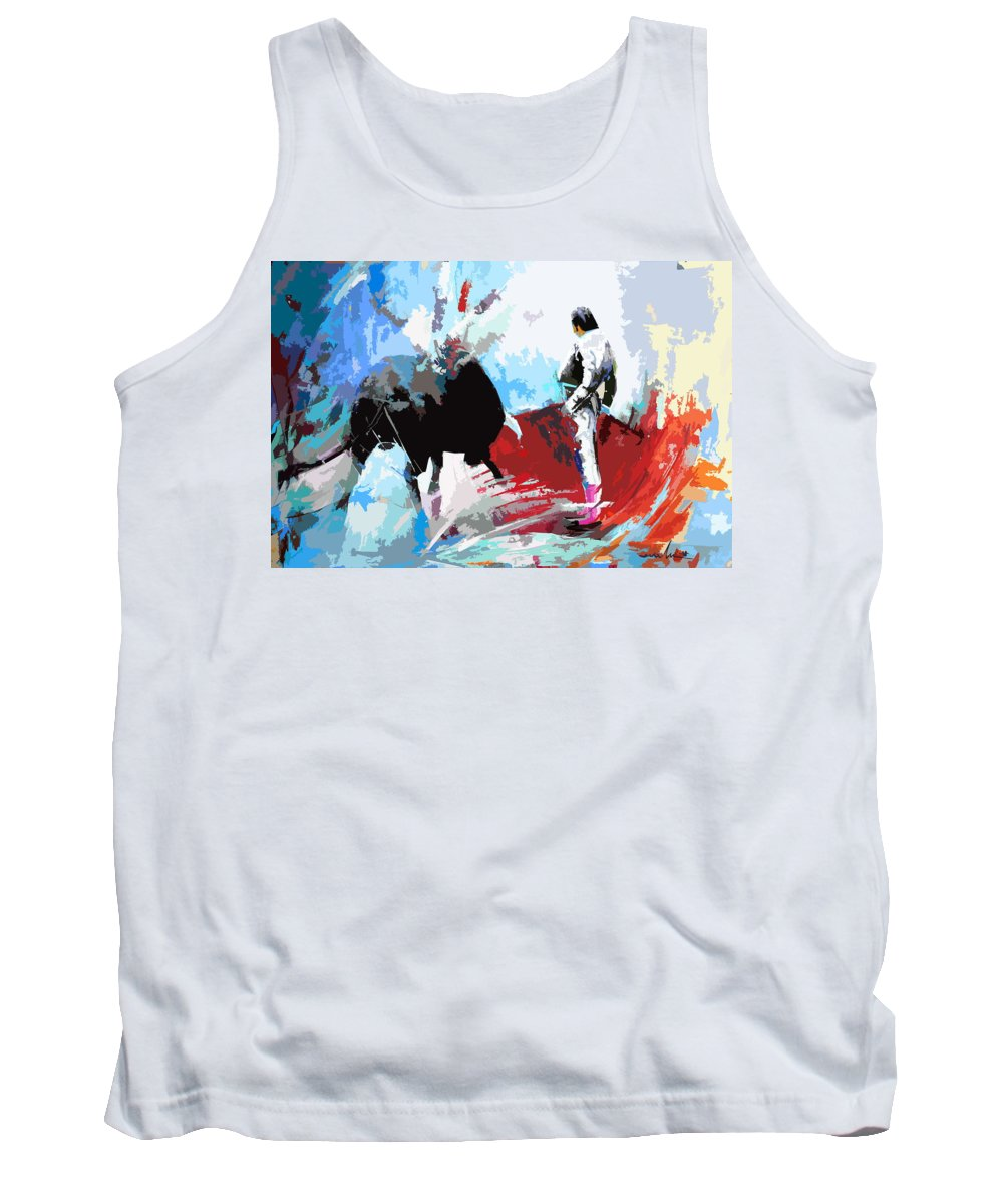 Animals Tank Top featuring the painting Toroscape 35 by Miki De Goodaboom