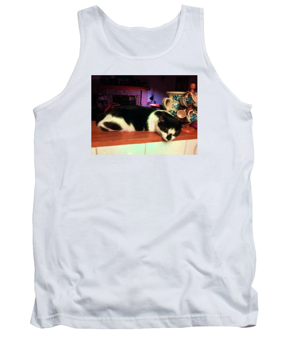 Cat Tank Top featuring the photograph Toulouse by Vicky Tarcau