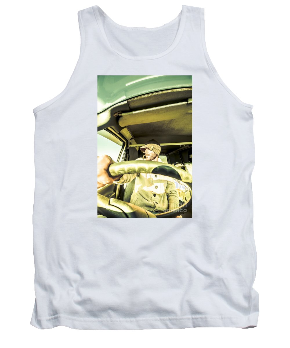 Sightseeing Tank Top featuring the photograph Tourist Sightseeing In Van by Jorgo Photography - Wall Art Gallery