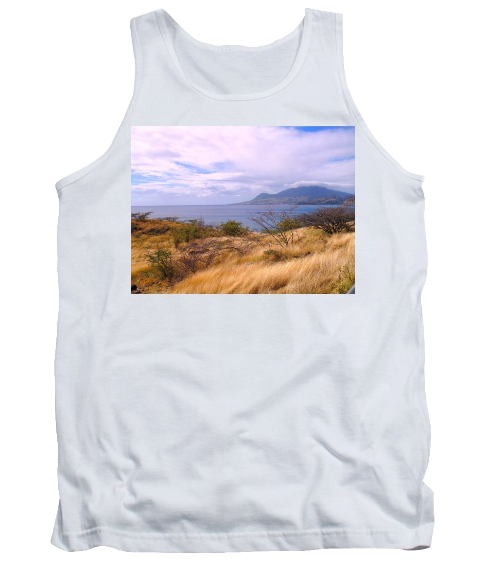 St Kitts Tank Top featuring the photograph Towards Basseterre by Ian MacDonald