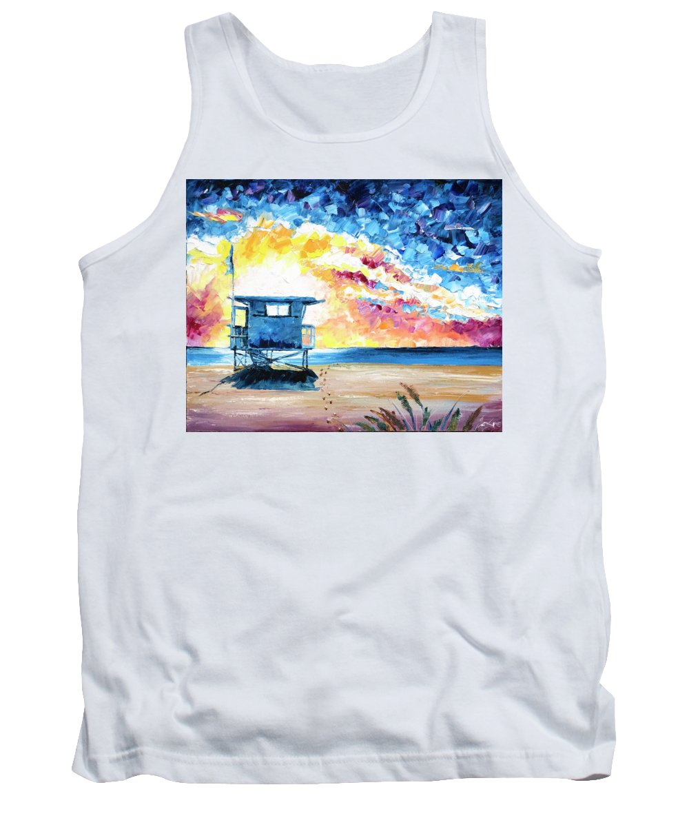 Tower Tank Top featuring the painting Tower Life 6 by Nelson Ruger