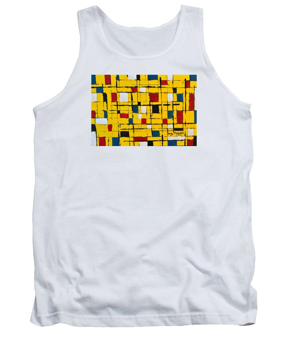 Town Square Tank Top featuring the painting Town Square by James Pinkerton