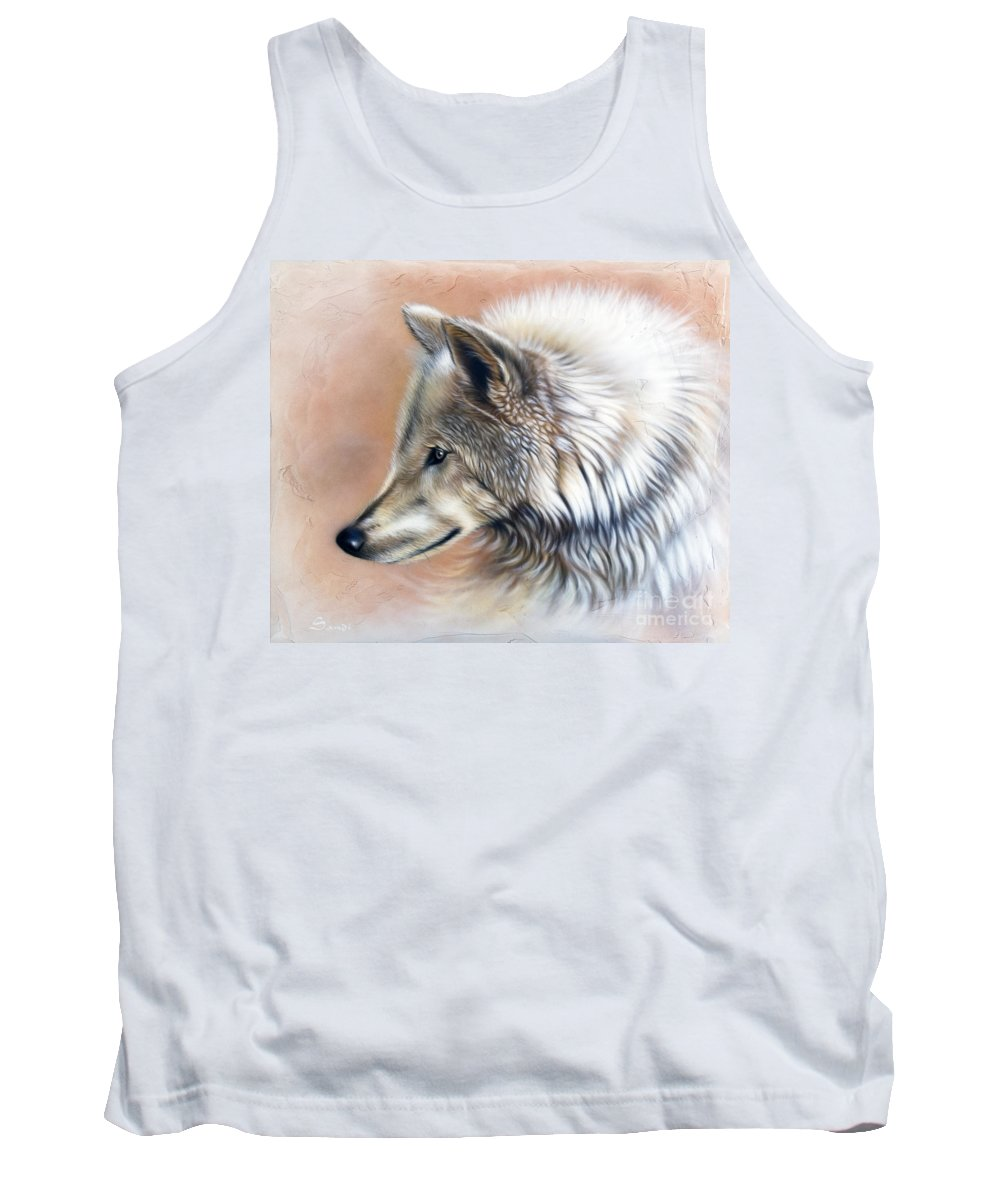 Wolves Tank Top featuring the painting Trace IIi by Sandi Baker