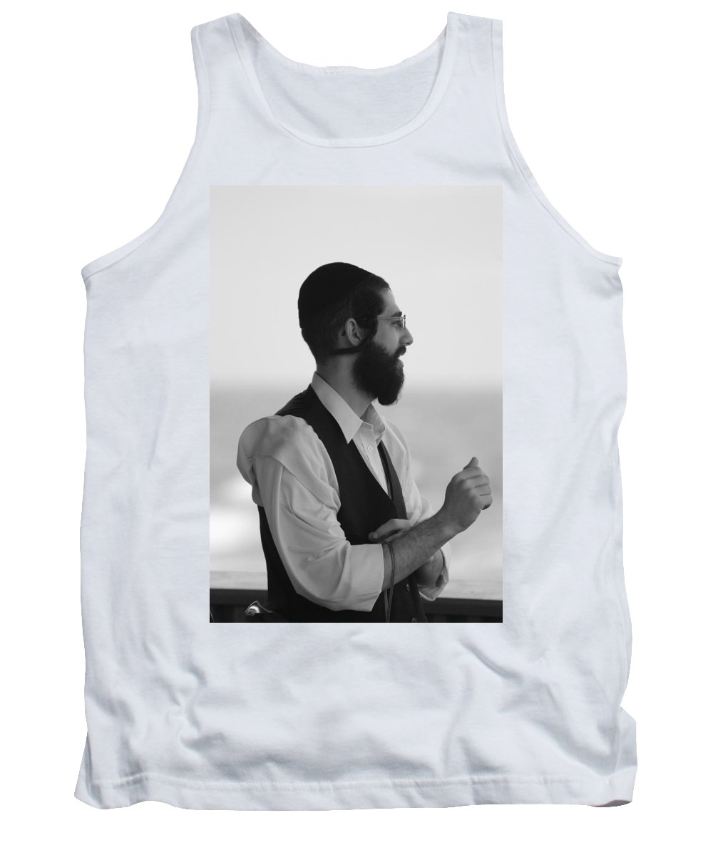 Black And White Tank Top featuring the photograph Tradition by Rob Hans