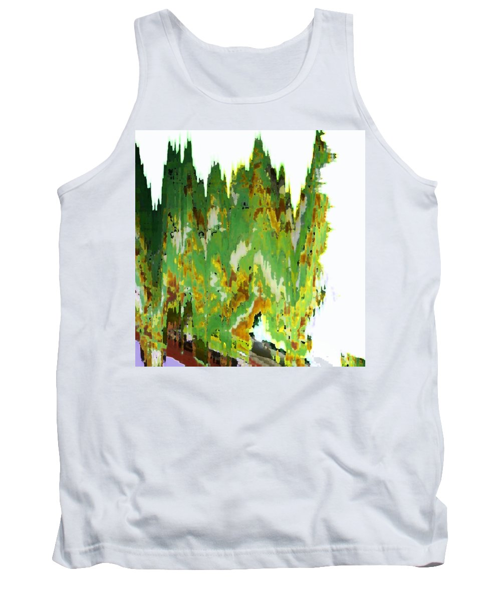 Abstract Tank Top featuring the digital art Train At Royal Gorge by Lenore Senior