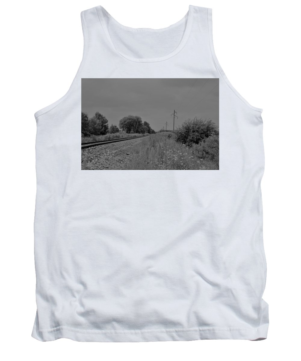 Tank Top featuring the photograph Train Tracks by John Bichler