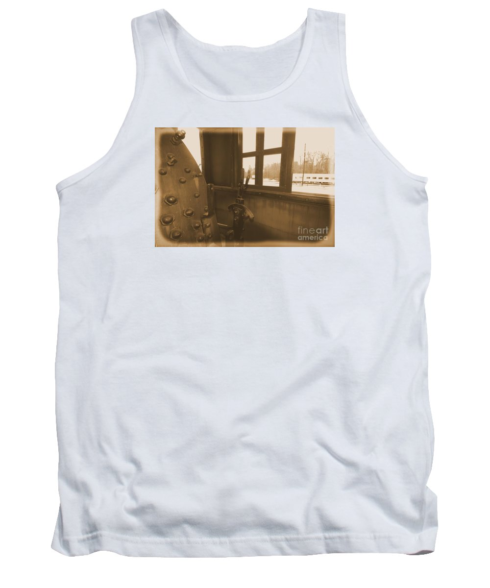 Train Tank Top featuring the photograph Trains 5 2 by Jay Mann