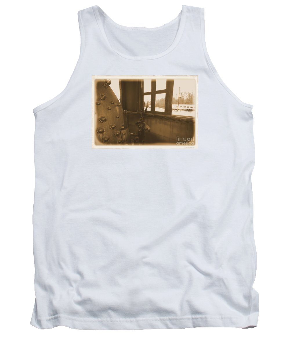 Train Tank Top featuring the photograph Trains 5 2a by Jay Mann