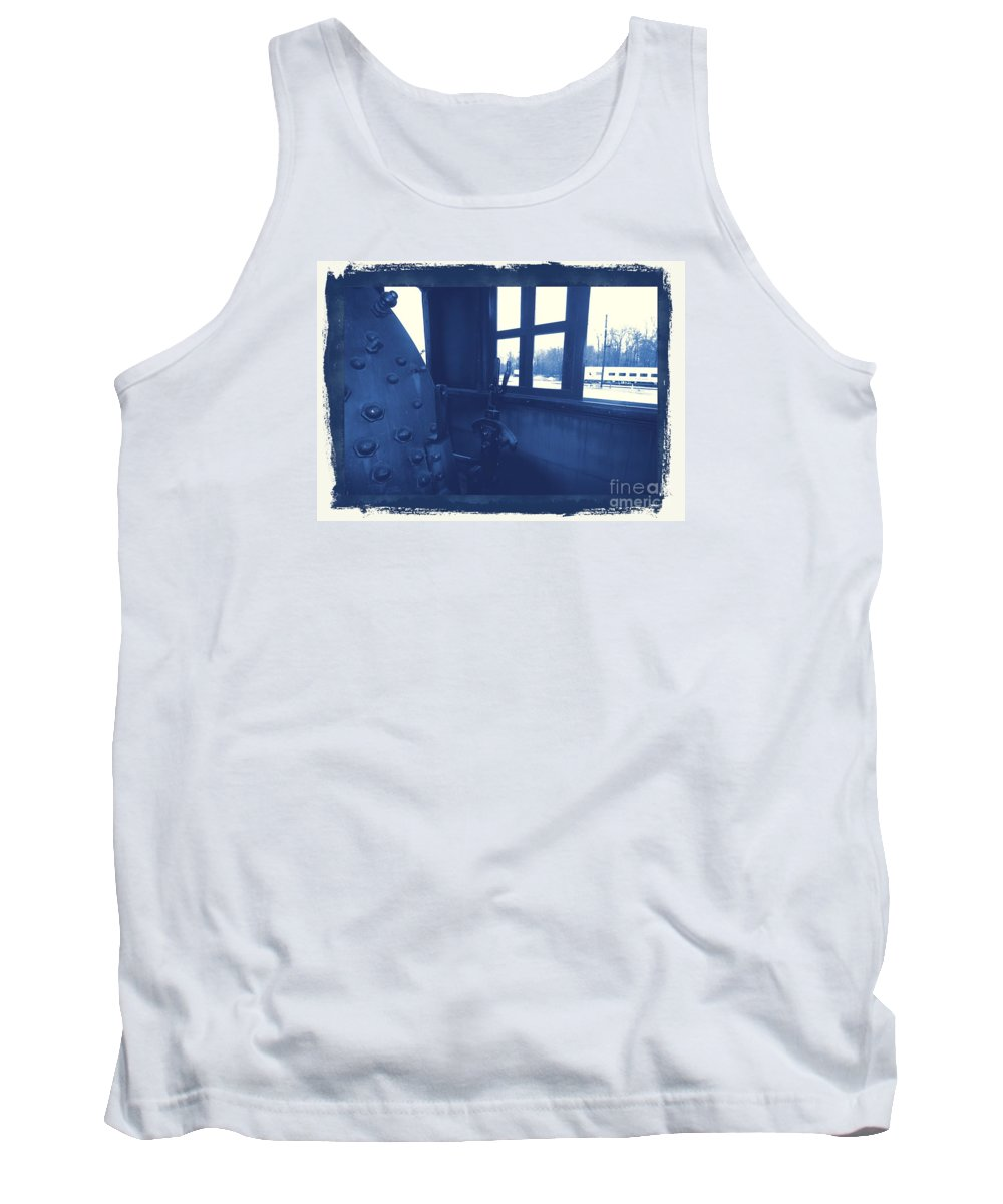 Train Tank Top featuring the photograph Trains 5 3a by Jay Mann