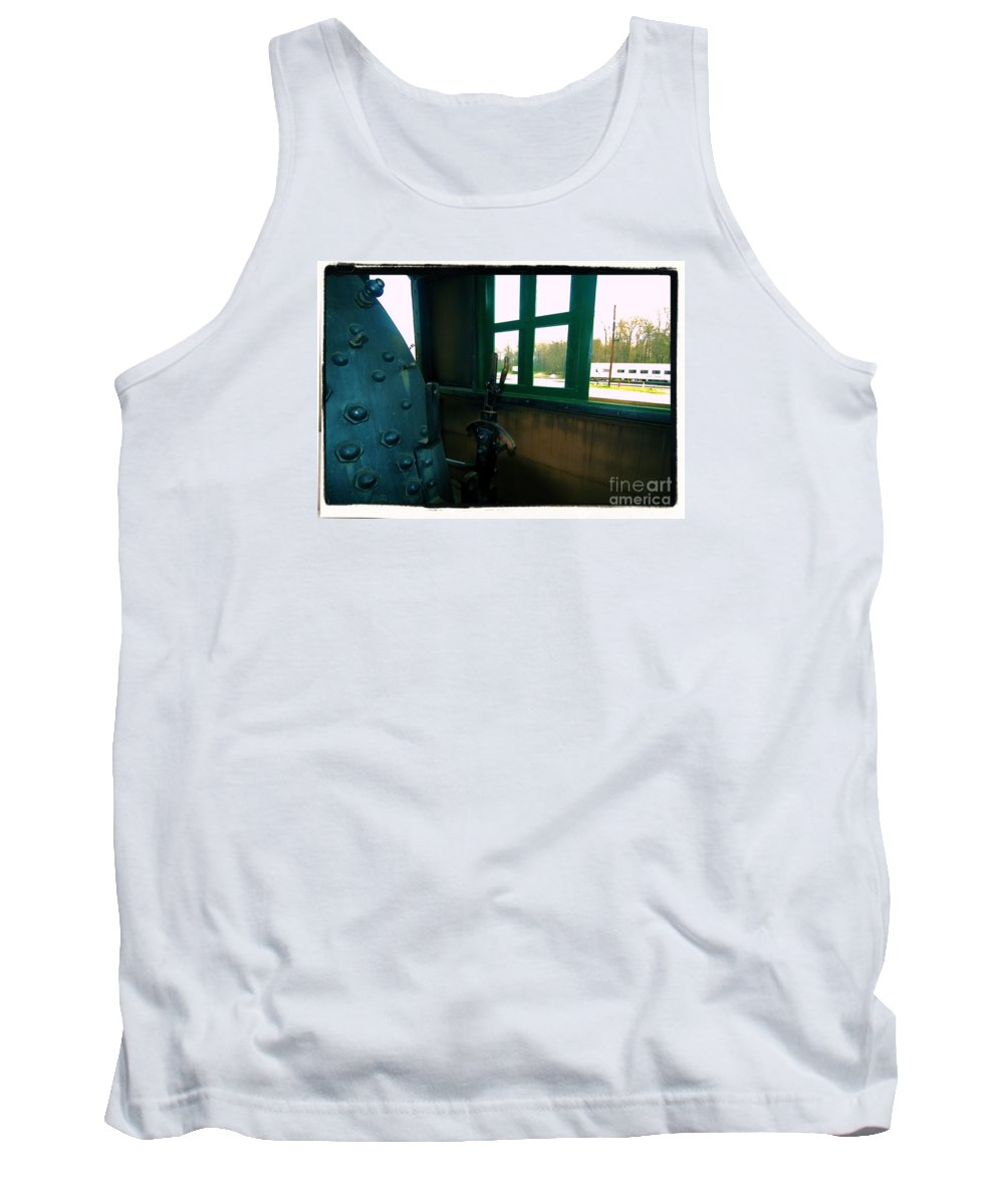 Train Tank Top featuring the photograph Trains 5 7a by Jay Mann