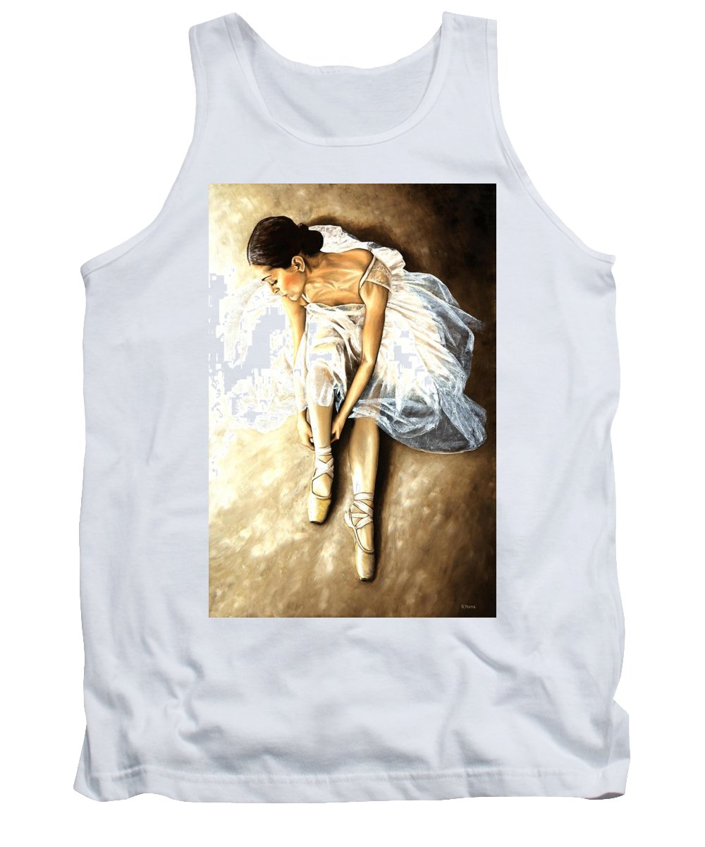 Ballet Tank Top featuring the painting Tranquil Preparation by Richard Young