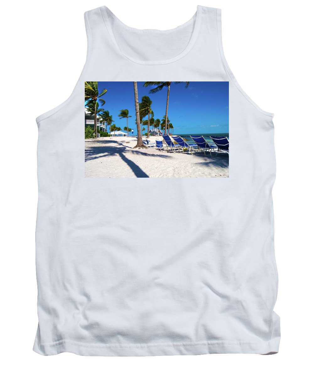 Tree Tank Top featuring the photograph Tranquility Bay Beach Paradise by Randy Aveille