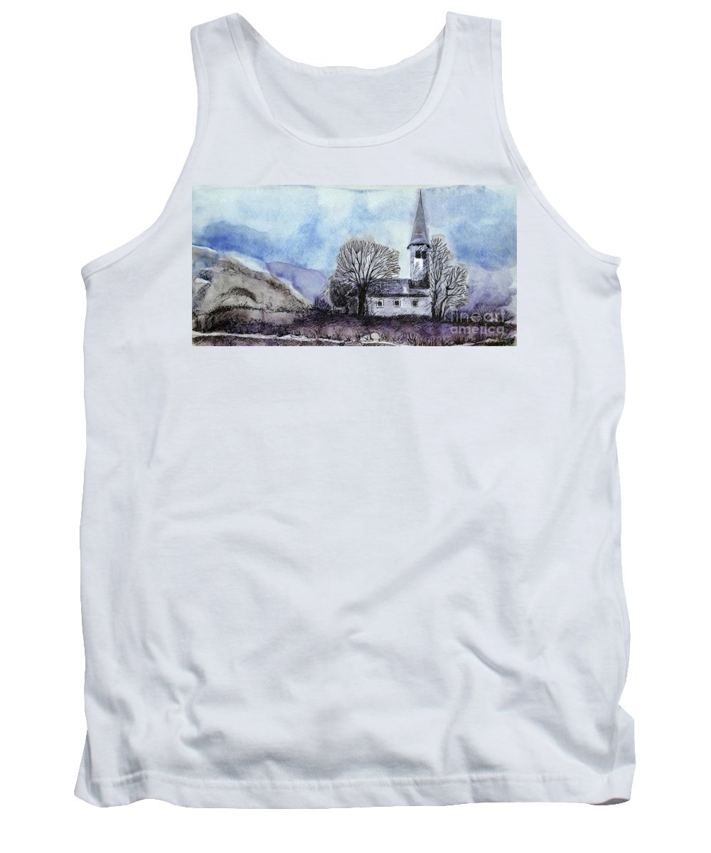House Tank Top featuring the painting Tranquility by Jasna Dragun