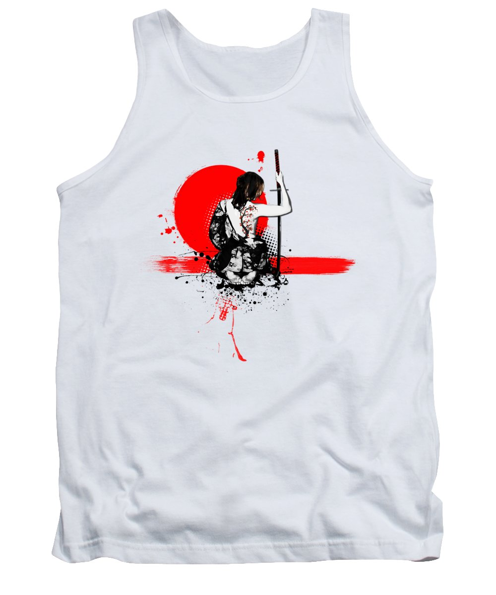 Cherry Blossom Digital Art Tank Tops
