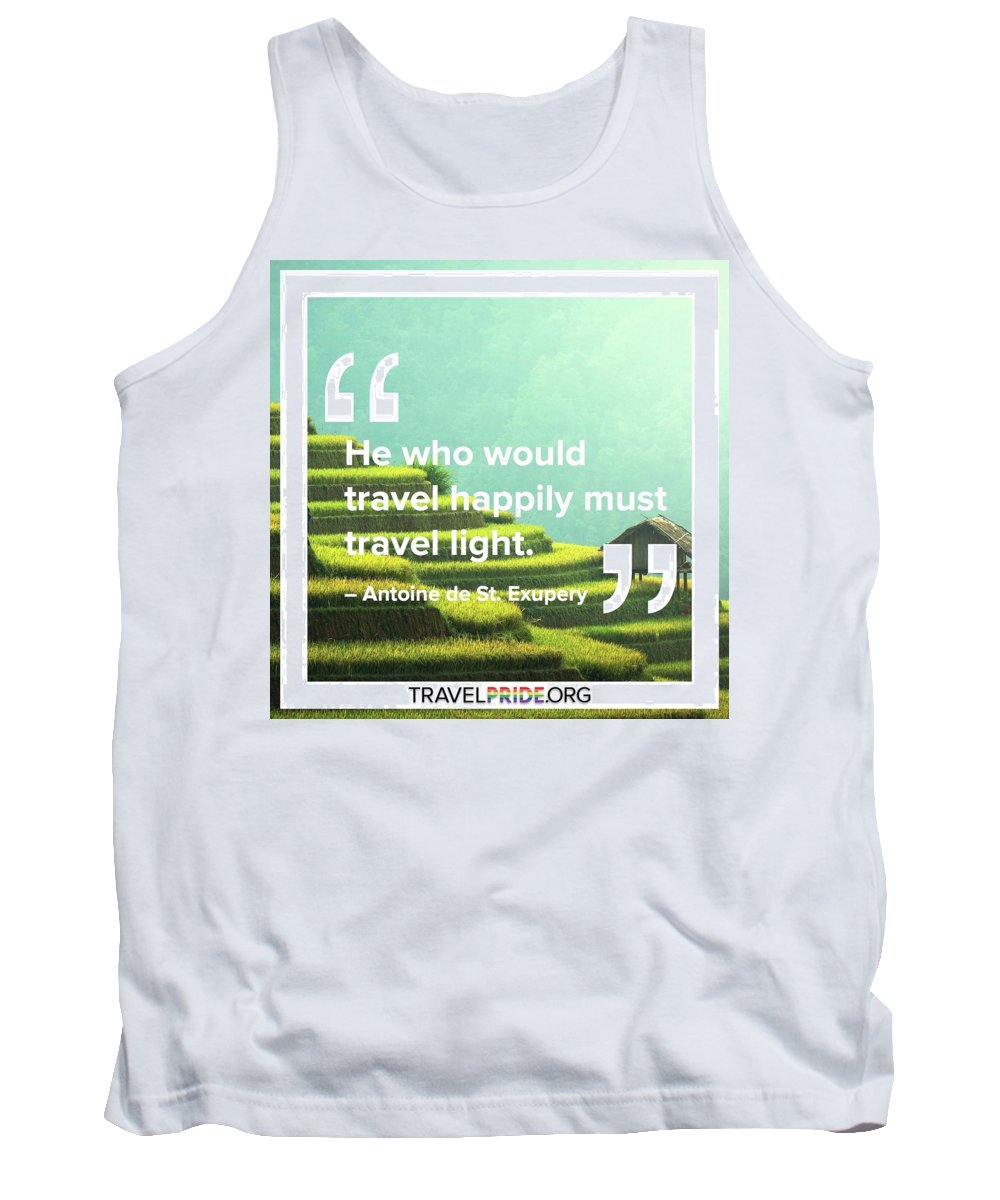 Travel Tank Top featuring the digital art Travel Happy by Travel Pride