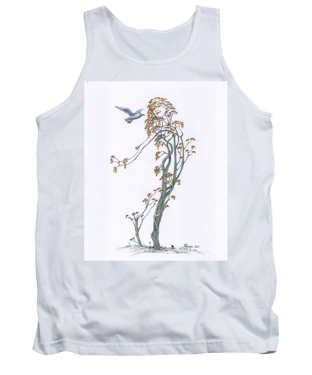 Mark Johnson Toronto Artist Drawings Tank Top featuring the drawing Traveling Companion Re-imagined by Mark Johnson