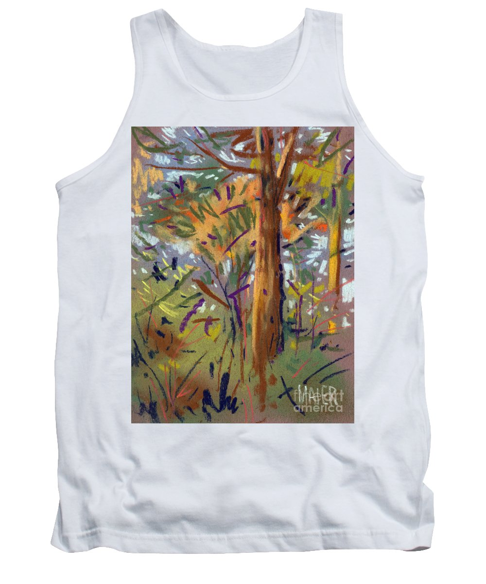 Trees Tank Top featuring the drawing Tree Sketch by Donald Maier