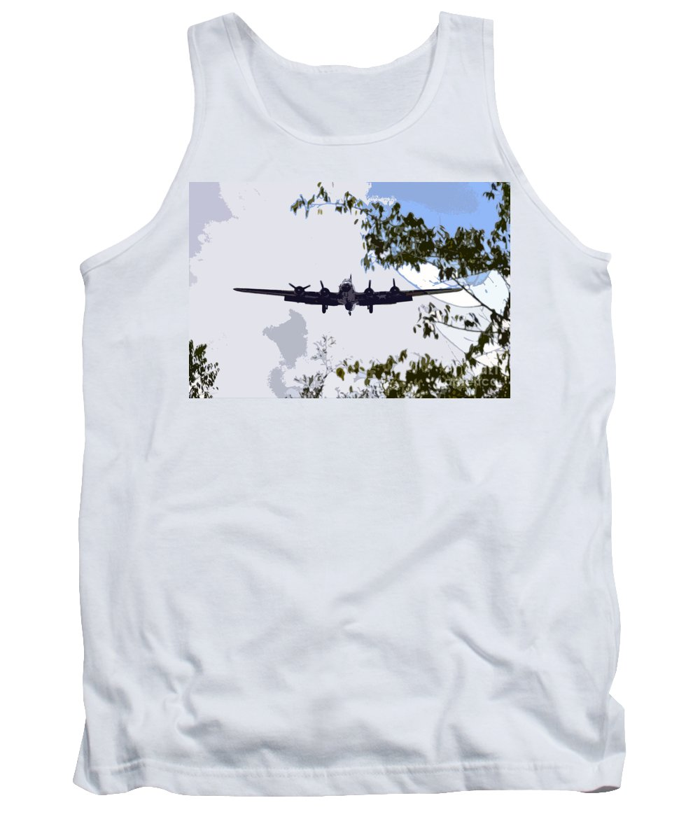 B 17 Tank Top featuring the photograph Tree Top Fly Er by David Lee Thompson