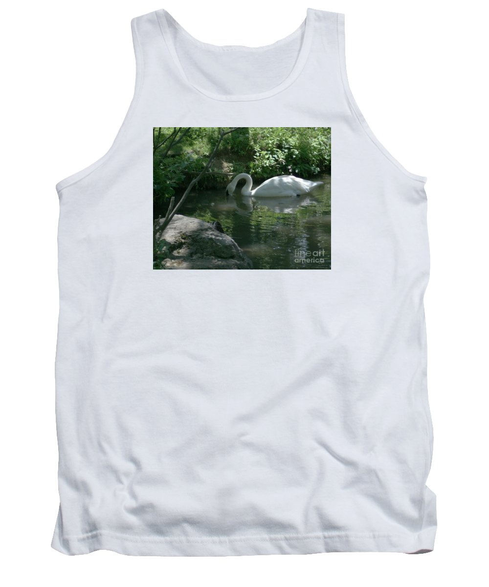 Trumpeter Swan Tank Top featuring the photograph Trumpeter Swan by Dawn Downour