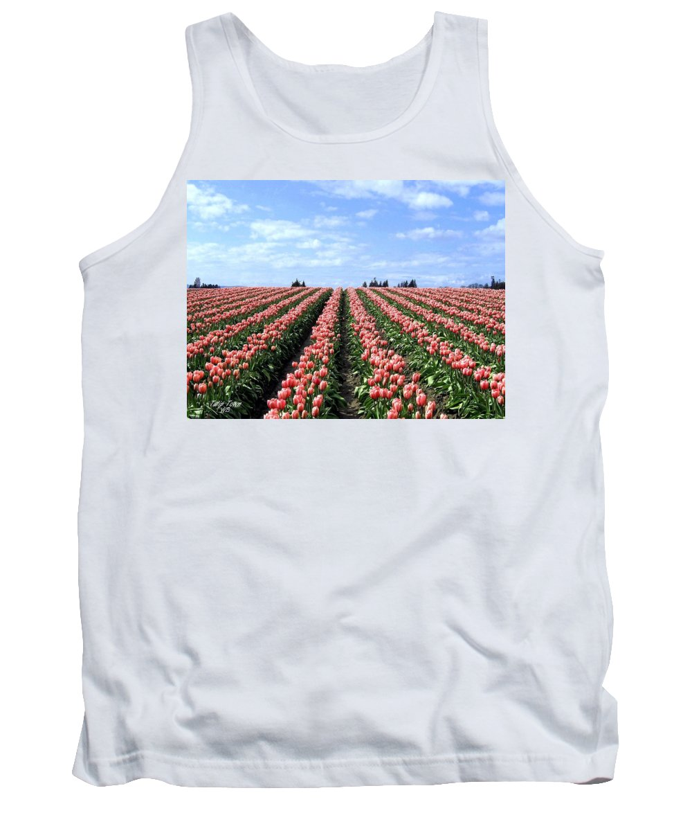 Agriculture Tank Top featuring the photograph Tulip Town 12 by Will Borden