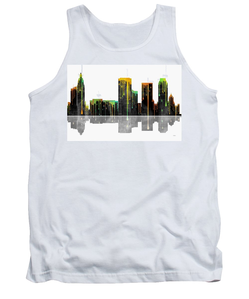 Tulsa Oklahoma Skyline Tank Top featuring the digital art Tulsa Oklahoma Skyline by Marlene Watson