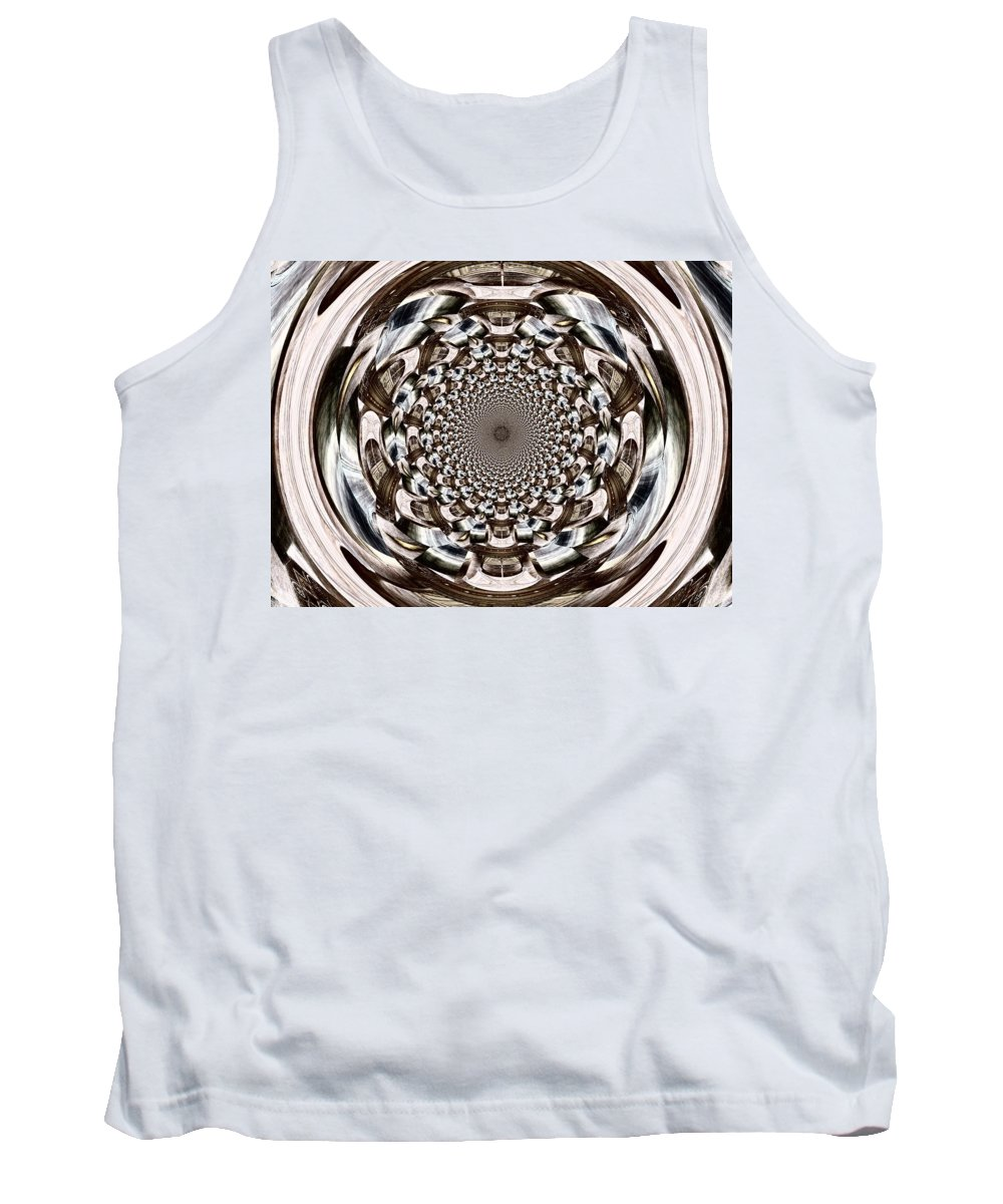 Orb Tank Top featuring the digital art Tunnel Vision by Charleen Treasures