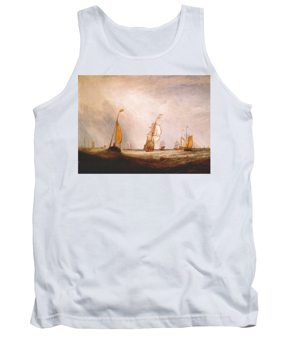 Ship Tank Top featuring the digital art turner helvoetsluys the city of utrecht 64 going to sea 1832 Joseph Mallord William Turner by Eloisa Mannion