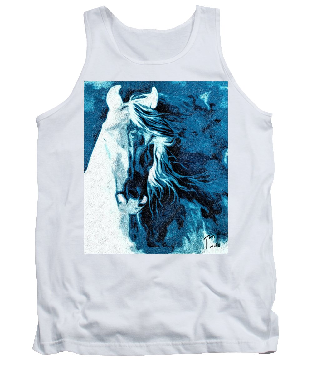 Horse Tank Top featuring the digital art Twilight At Alcalde by Terry Fiala