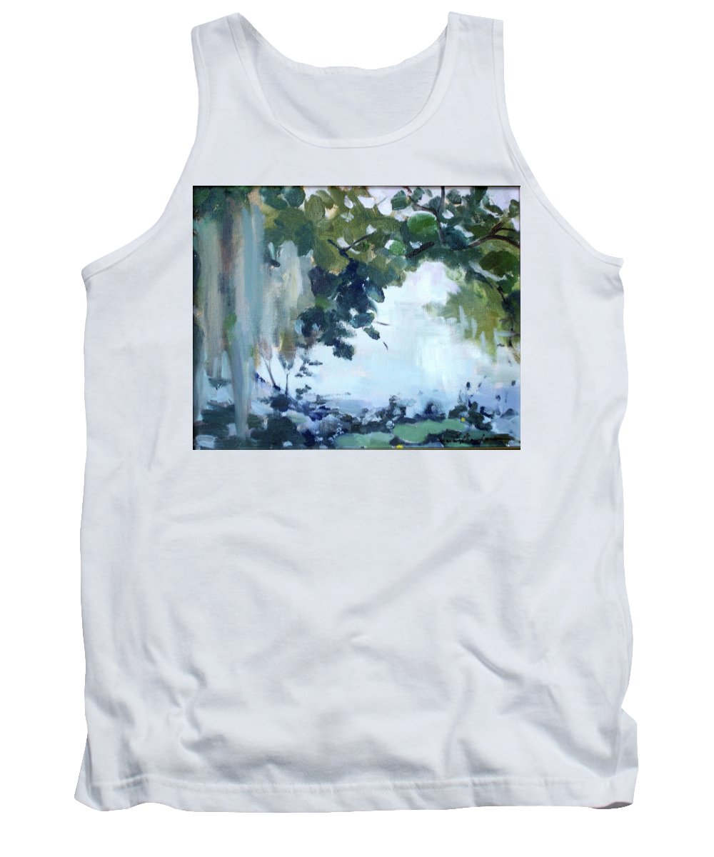 Landscape Tank Top featuring the painting Twin Lakes by Marie Garafano
