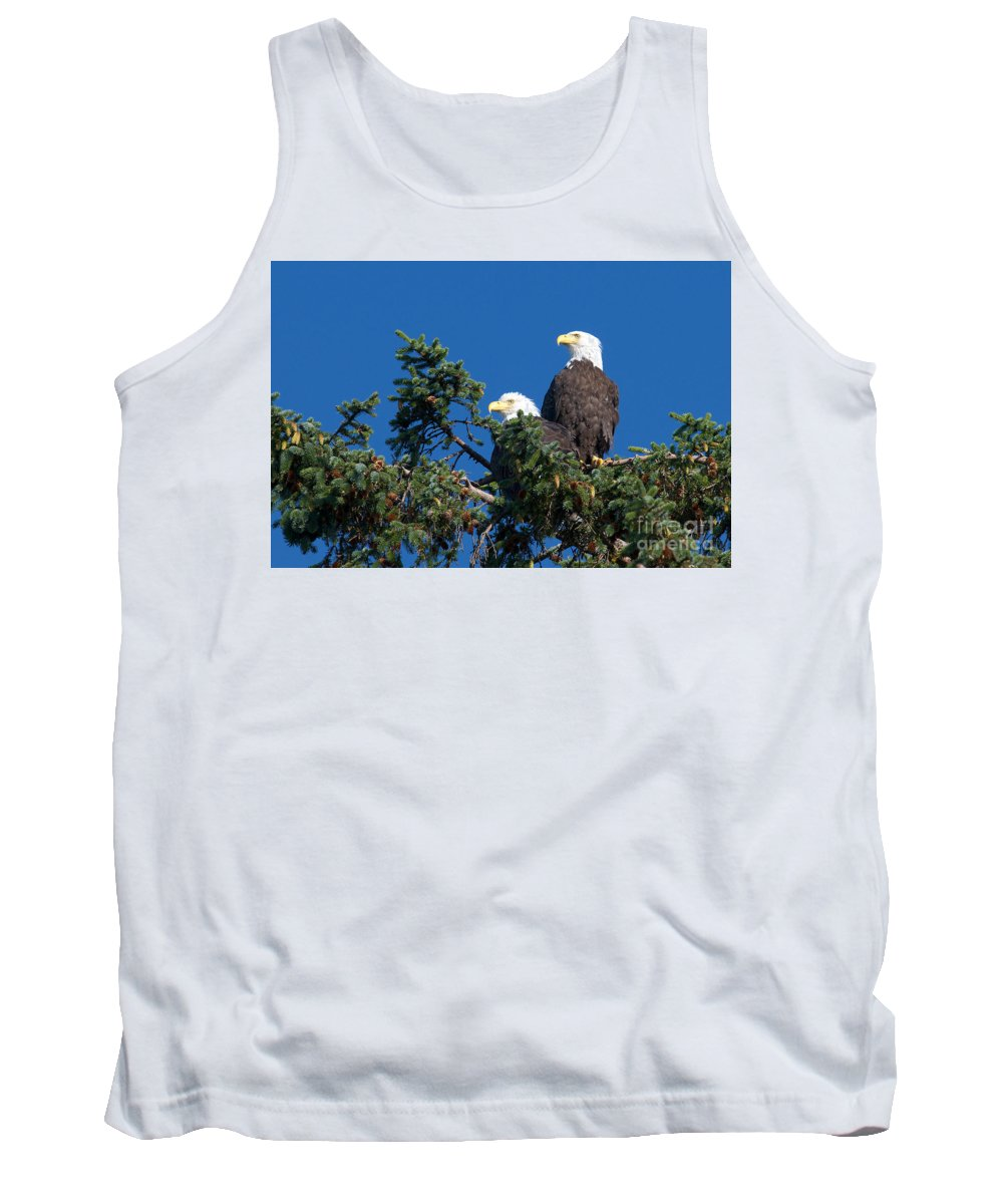 Bald Eagles Tank Top featuring the photograph Two Eagles by Sharon Talson