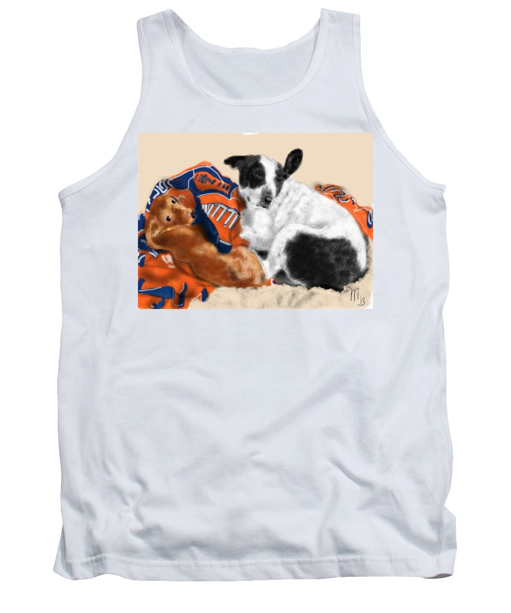Dachshund Tank Top featuring the painting Two Peas In A Pod by Lois Ivancin Tavaf