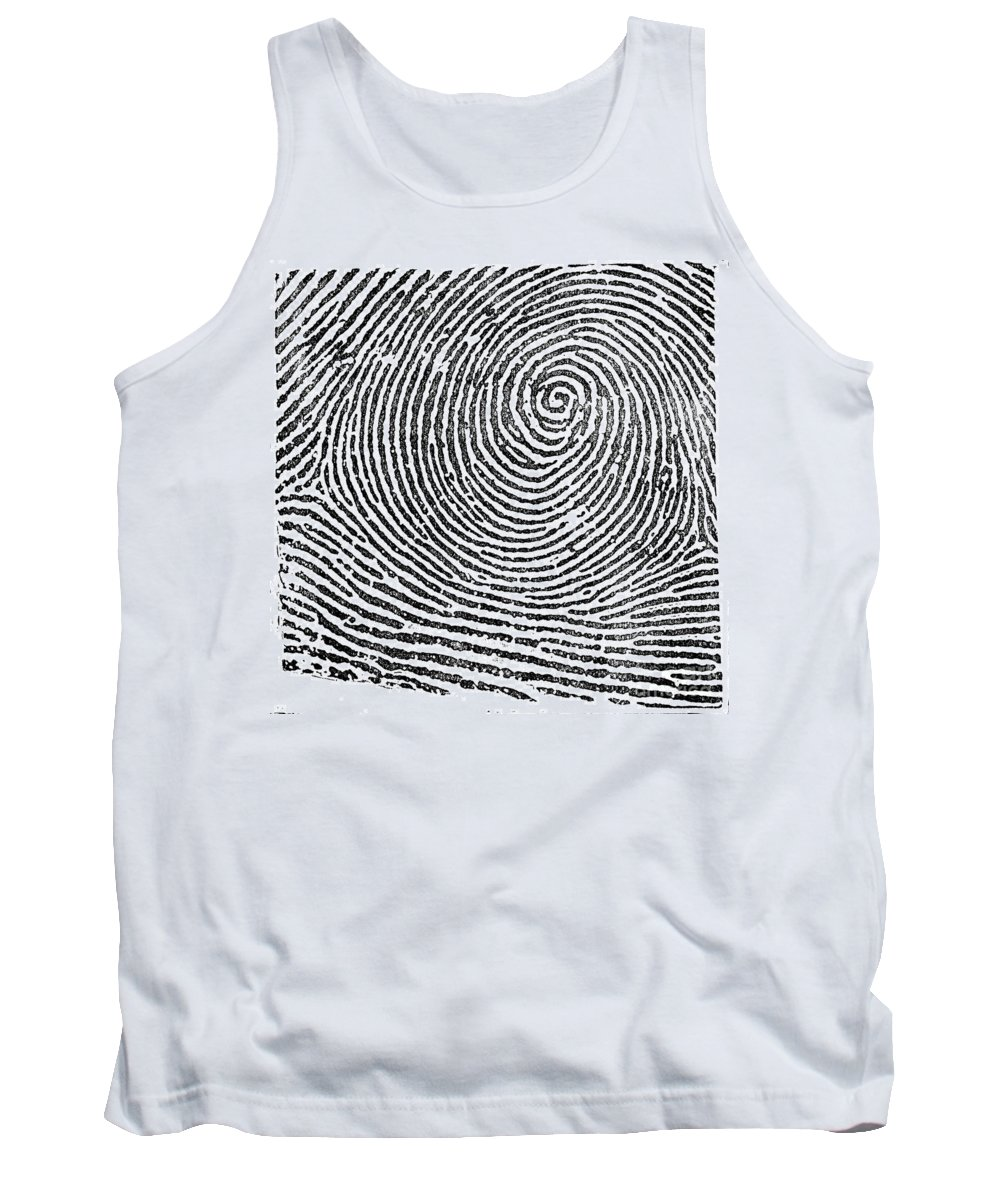 Science Tank Top featuring the photograph Typical Whorl Pattern In 1900 by Science Source