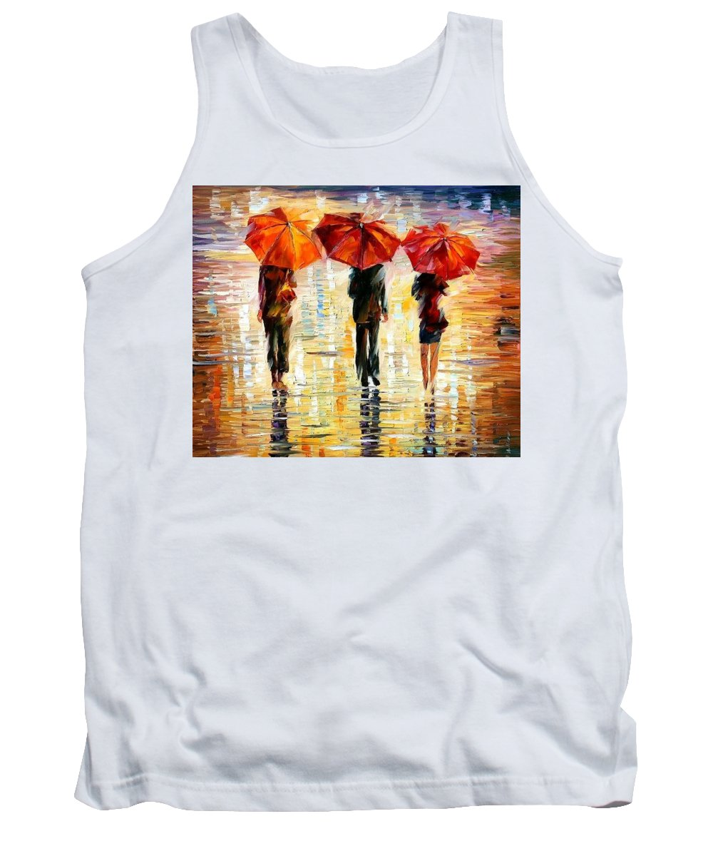 People Tank Top featuring the painting Umbrellas by Leonid Afremov