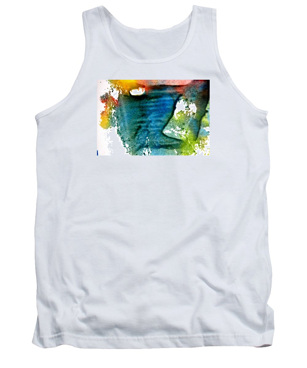 Abstract Tank Top featuring the painting Uncharted Terrian by Kruti Shah