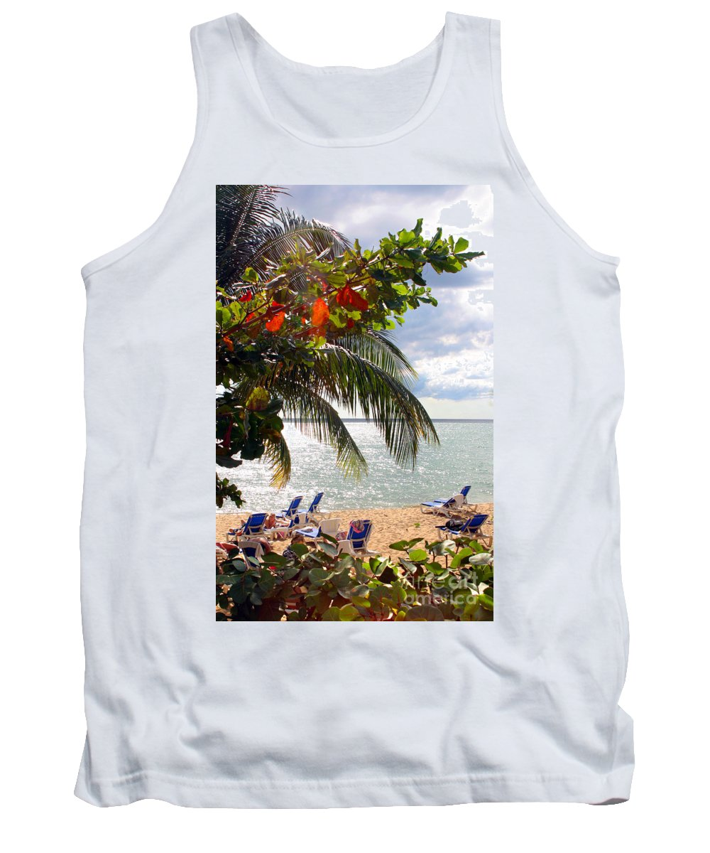 Palm Tank Top featuring the photograph Under The Palms In Puerto Rico by Madeline Ellis