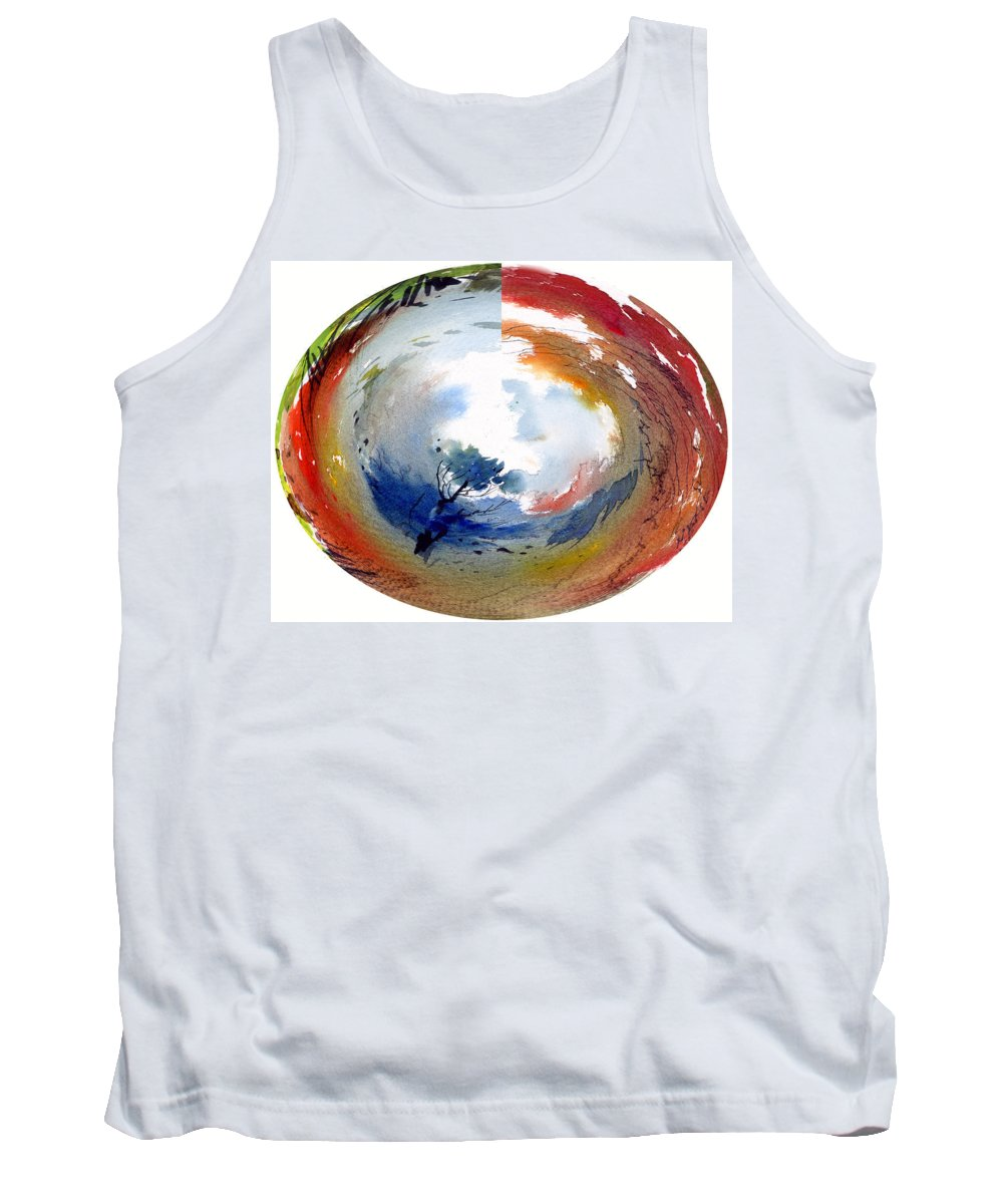 Landscape Water Color Watercolor Digital Mixed Media Tank Top featuring the painting Universe by Anil Nene