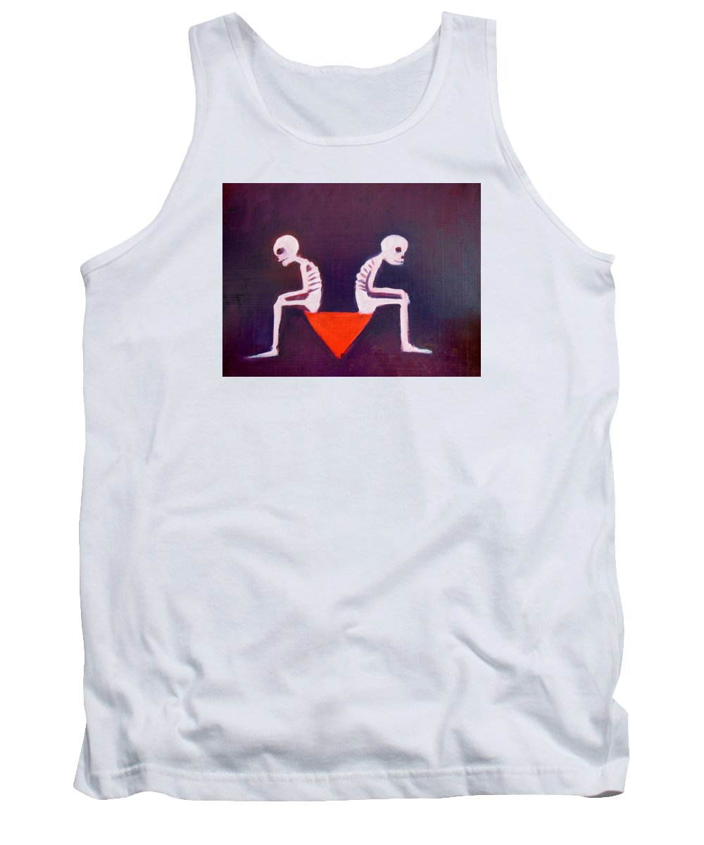 Death Tank Top featuring the painting Until Death Do Us Part by Bonita Barlow