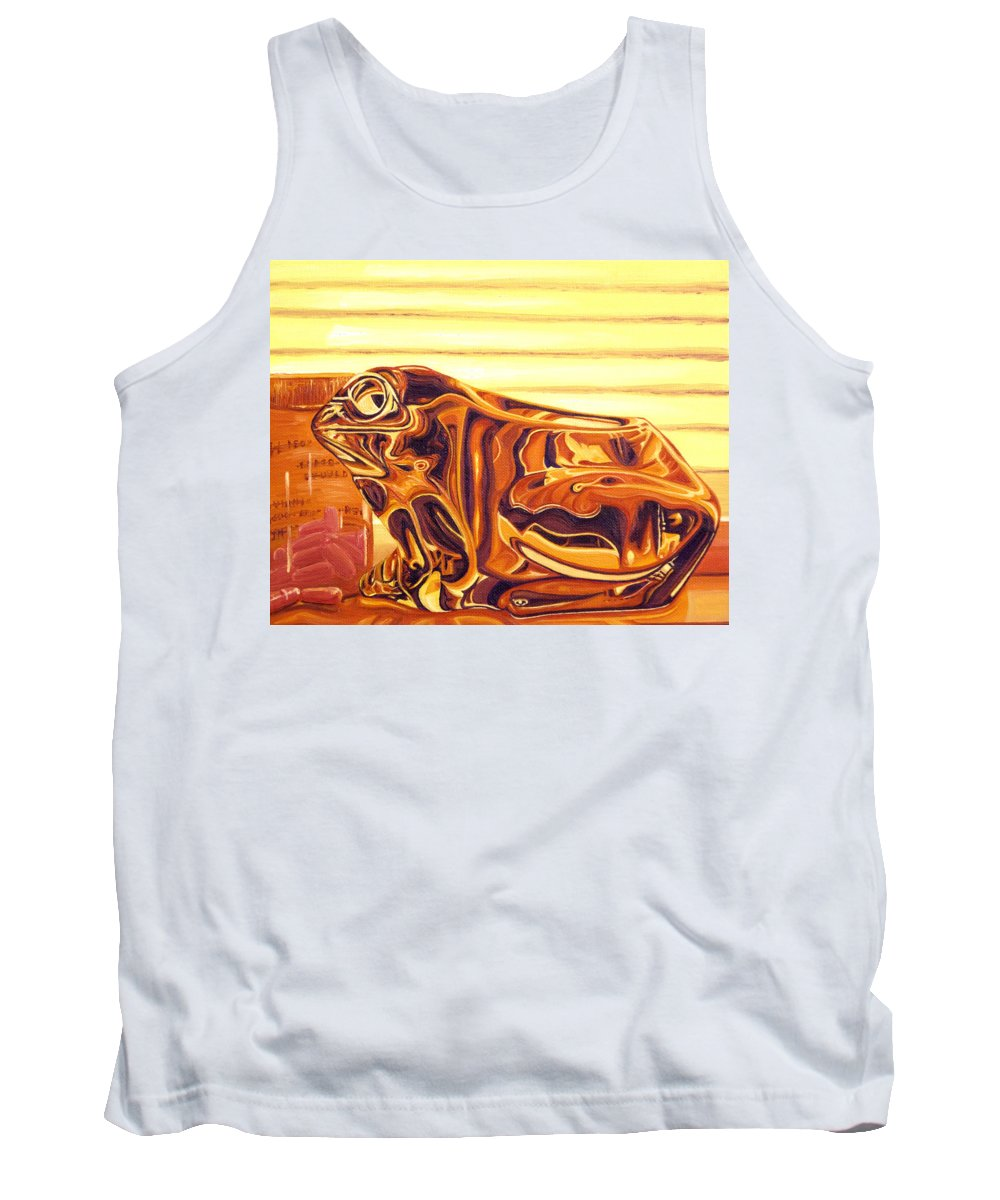 Frog Tank Top featuring the painting Untitled by Judy Henninger