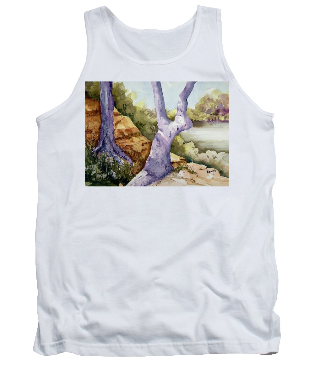 Tree Tank Top featuring the painting Untitled by Sam Sidders