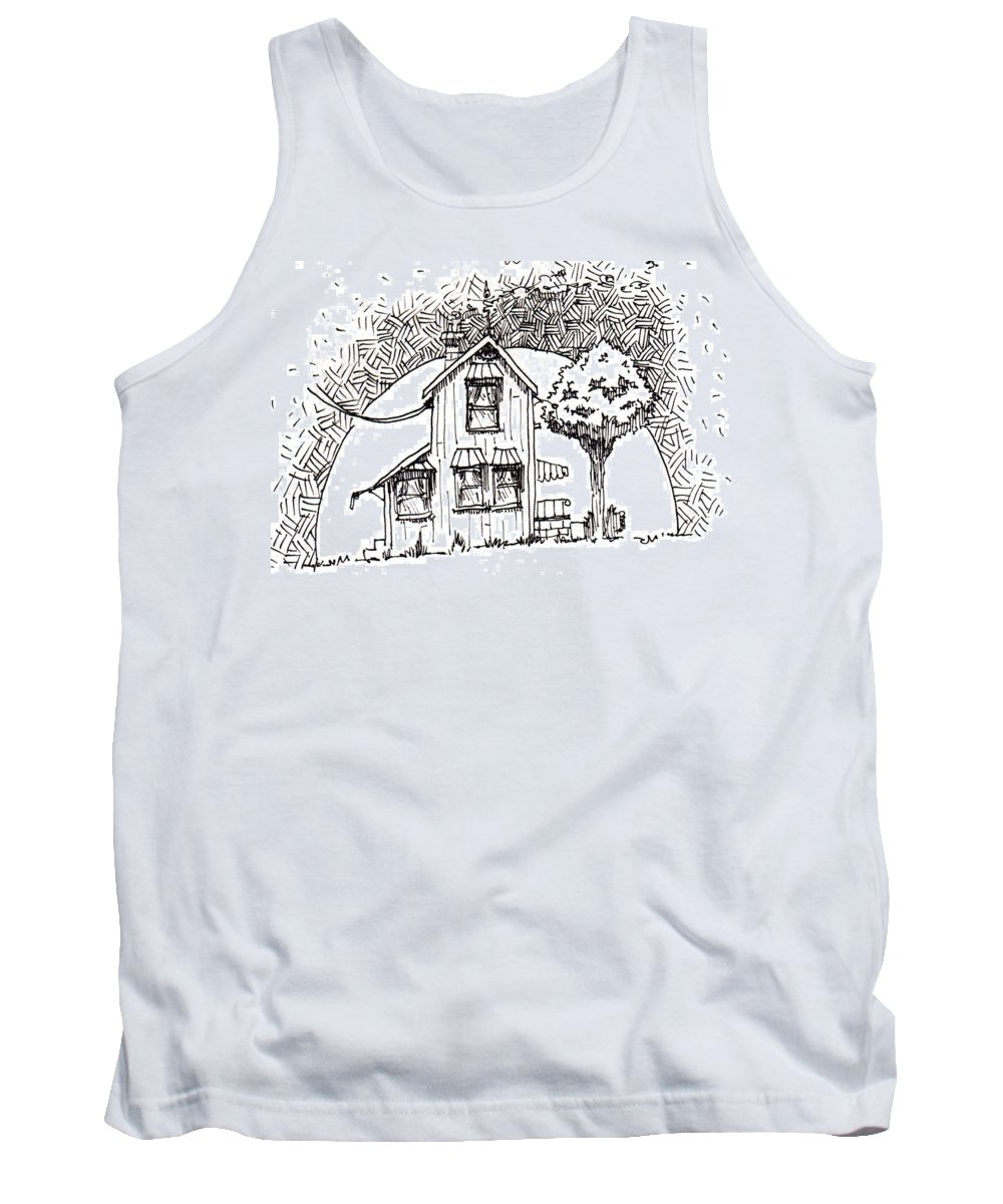 House Tank Top featuring the drawing Untitled by Tobey Anderson