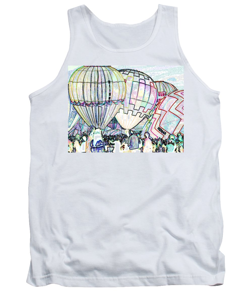 Balloons Tank Top featuring the photograph Up Up And Away by Tim Allen