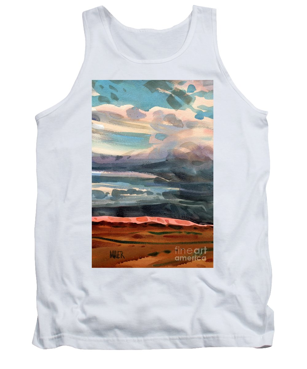 Western Landscape Tank Top featuring the painting Utah Skyline by Donald Maier