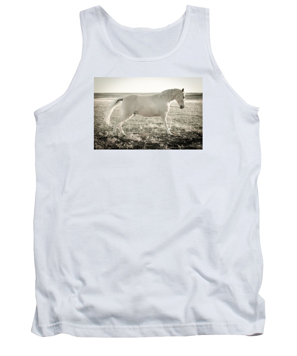 Horse Tank Top featuring the photograph Vanilla Walker by Trish Kusal