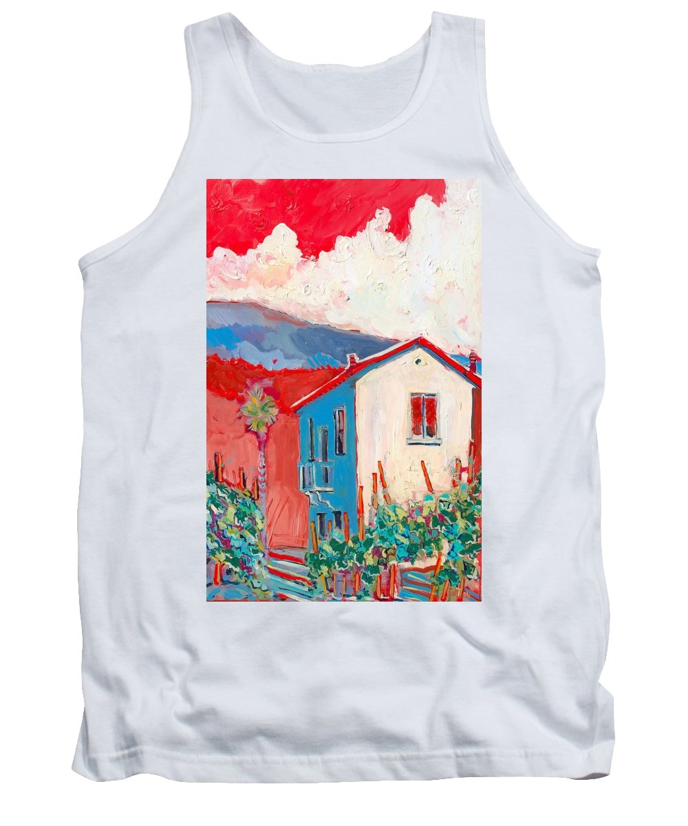 Tuscany Tank Top featuring the painting Vecchio Casa by Kurt Hausmann