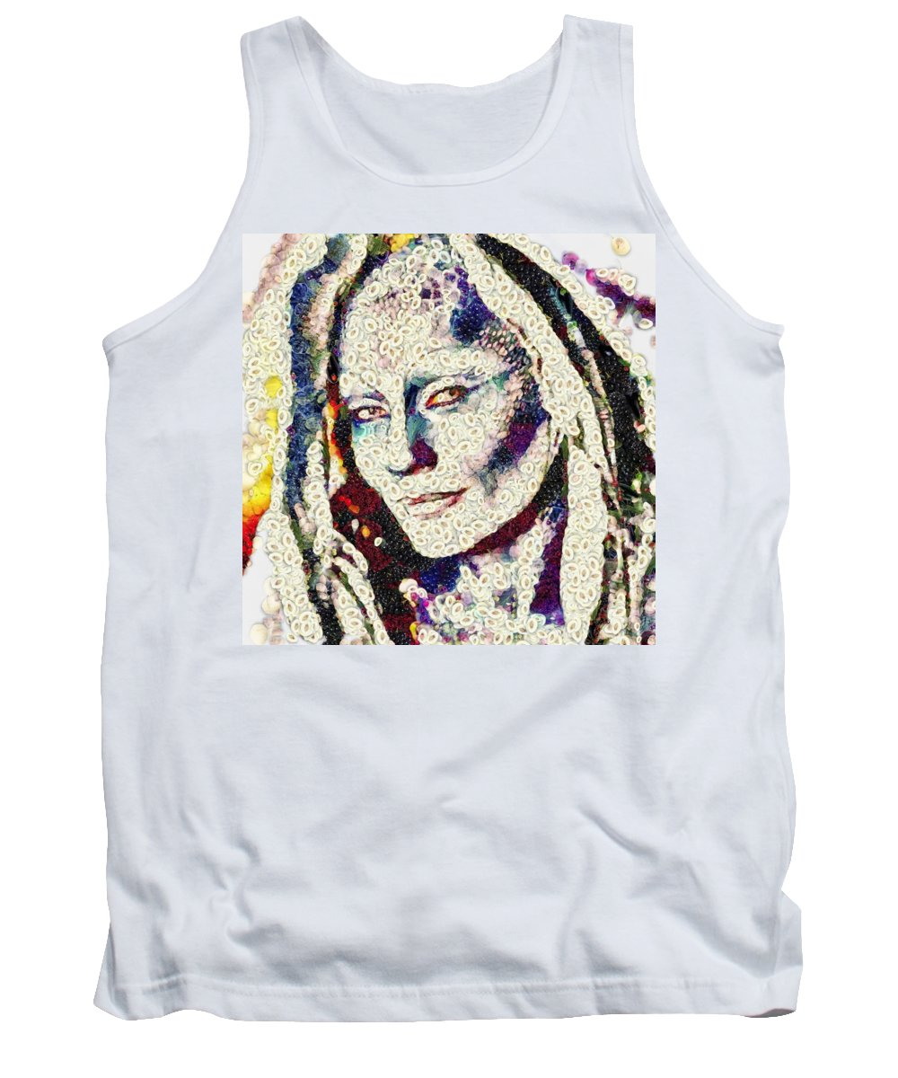 Vegged Out She Tank Top featuring the digital art Vegged Out She by Catherine Lott