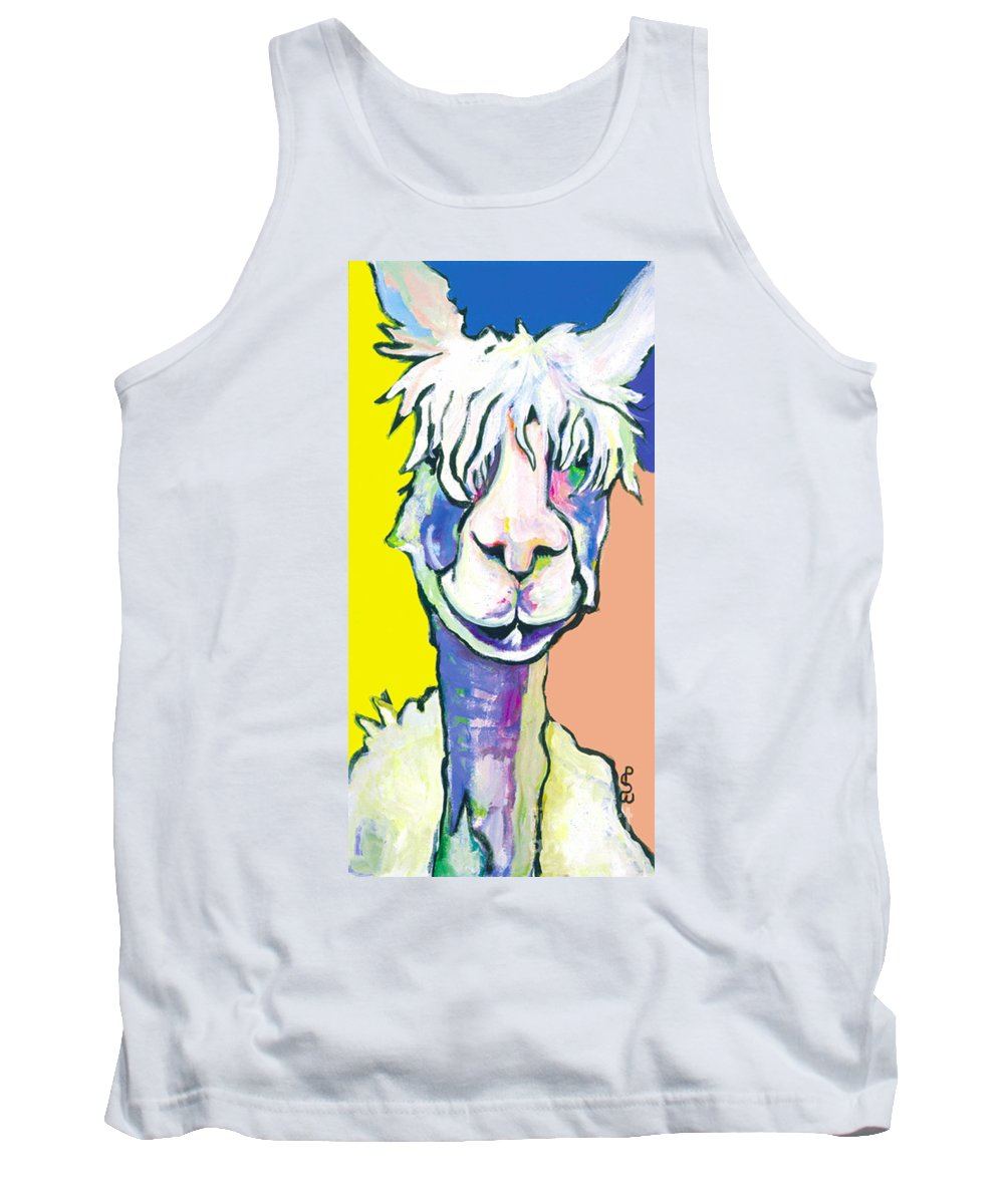 Mountain Animal Tank Top featuring the painting Veronica by Pat Saunders-White