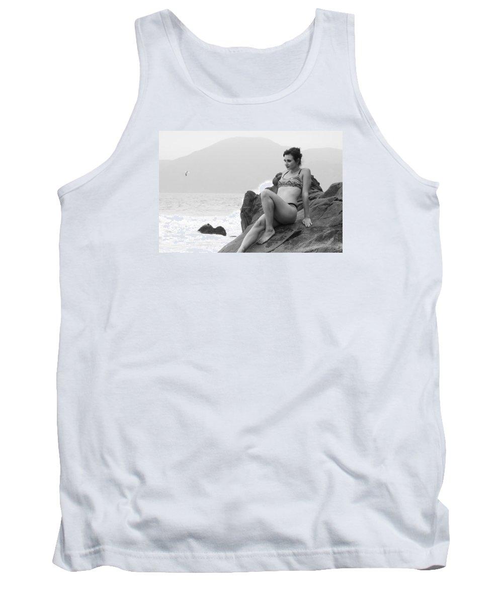 Bikini Tank Top featuring the photograph Victoria Bw 188 by Remegio Dalisay