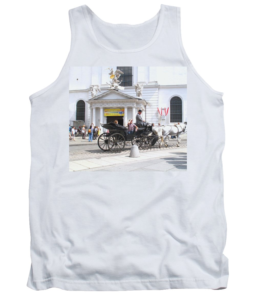 Carriage Tank Top featuring the photograph Vienna Horse And Carriage by Ian MacDonald