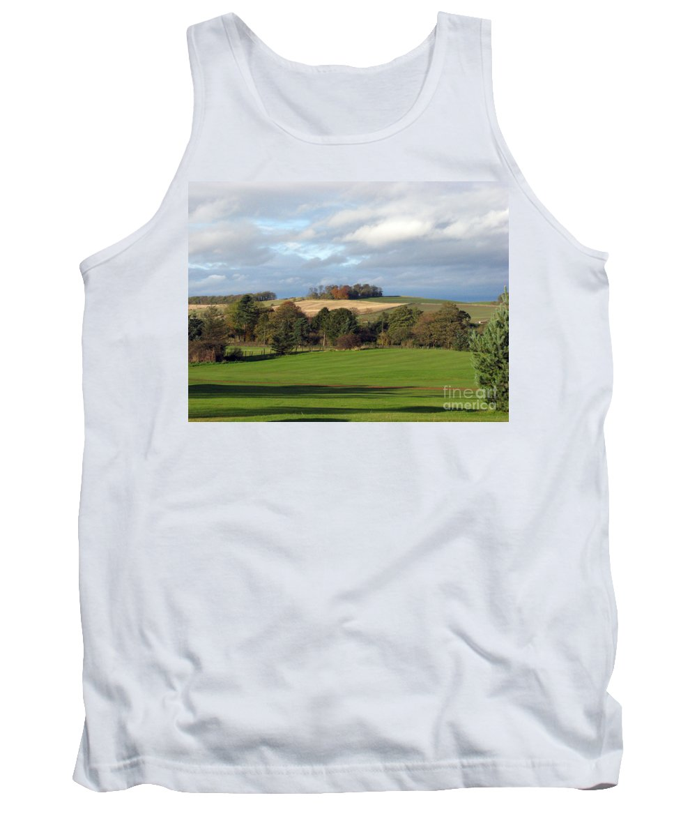 Scotland Tank Top featuring the photograph View At The Dalmahoy by Amanda Barcon