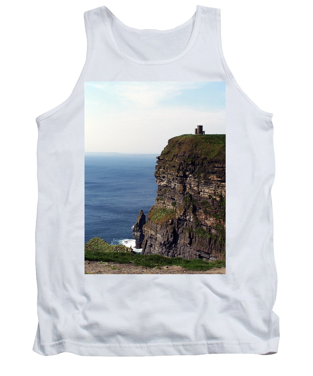 Irish Tank Top featuring the photograph View Of Aran Islands And Cliffs Of Moher County Clare Ireland by Teresa Mucha